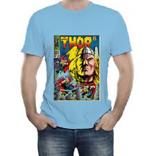 T-Shirt Maglietta Marvel Comics ADULTO Taglia XL - Thor colore Celeste NUOVA