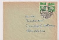 BUND, Mi. 183 MeF/verschnittene Rollenmarken, Neviges,OWS, 19.10.56
