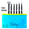 All of Mitty Brush Pack Nail Art Powder Dots Stripes Vegan Acetone Resistant