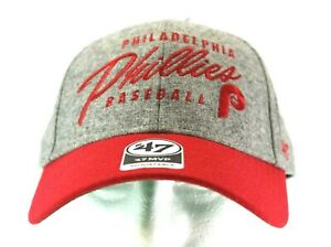 Philadelphia Phillies Gray/ Red Baseball Cap Adjustable