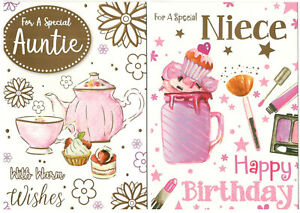 Birthday Cards For Relatives, Various Designs To Choose From. Great Multi-Buys