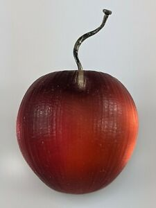 """Alexis Bittar Carved Fruit Cherry or Apple Gorgeous Red Pin Brooch Small 1 1/4"""""""