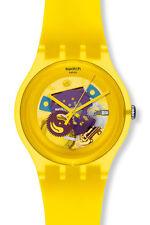 """Swatch New Gante """"Yellow Lacquered"""" (suoj 100) Artículo nuevo"""