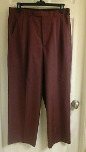 J. Anthony Brown, men's size 42-44X30 dress pants, adjustable waist Rust, NWD