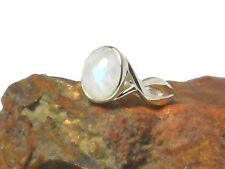 MOONSTONE   Sterling  Silver   925  Gemstone   RING  -  Size: P  - Gift  Boxed!