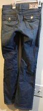 True Religion Girls Billy Jeans Sz 12 Boot Cut Dark Wash Flap Pockets B2