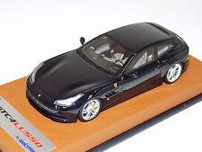 1/43 Looksmart Ferrari GTC4 Lusso in Blue Pozzi on Tan Leather Base