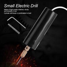 Portatile Mini Metallo Elettrico Trapano A Mano Micro USB Drill con 3 punte Bits