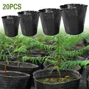 20PCS NURSERY POTS Outdoor Plastic Vegetable Flower Plant Plastic Pot Garden hot