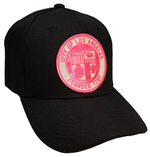 City Of Los Angeles Founded1781Hat Color All Black Pink Patch Adjustable