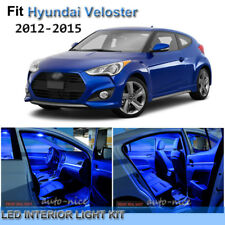 For 2012-2015 Hyundai Veloster Premium Blue LED Interior Lights Kit 7 Pieces