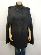 BURBERRY LONDON Poncho Cape Gr.XL 42 Mantel Jacke Merinowolle extrafine Grau