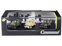 1/4 Ton Military Vehicle 3 Car Set, Scale 1:72 by Cararama