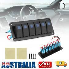 Switch Panel 12V USB ON-OFF Toggle 6 GANG Blue LED Rocker for Car Boat Marine AU
