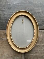 Lovely Oval Gold Coloured Frame Picture Photo Wall Hanging