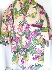 Hawaiian Shirt Handmade Size 2-3X See Measurements Beige Background