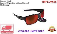 RayZor Uv400 Black Sports Wrap Sunglasses Red Mirrored Lens RRP£49 (424)