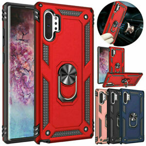 Armor Case Metal Ring Stand Phone Cover for Samsung Galaxy Note10 Plus S9 S10+