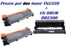 CARTUCCIA PER BROTHER DCP L2500D DCP L2520D  X 2 TONER TN2320 + 1 DRUM DR2300