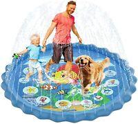 Splash Pad, 67'' Sprinklers for Kids Toddlers, Upgraded Summer Outdoor Play Mat