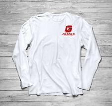 GasGas Racing Parts Motorcycle Long Sleeve T-Shirt size S-3Xl