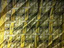 Petit carré foulard Souleiado coton jaune & kaki 46x46 cm