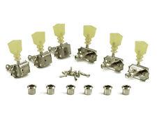 Kluson Tuners 3+3 Pearl Keystone Nickel Vintage Tuners fits Gibson Les Paul,SG,V