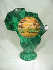 BUTW Zaire Hand made Zaire malachite mantel desk lapidary clock 9553B dl
