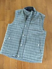 J L Powell The Sporting Life Zip & Snap Front Wool Vest Gray Sz M Hunting