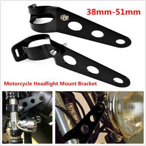 Motorcycle Bikes ATV Headlight Mount Bracket Clamp For 38mm-51mm Fork Tube Black