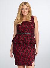 Torrid Rebel Wilson Lace Peplum Dress, Size 20, Brand New