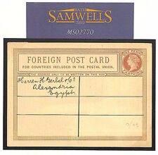 MS2770 QV GB Stationery Foreign Postcard