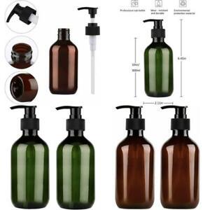 2 Pump Bottle Dispenser Empty Plastic Refillable Lotion Soap Liquid Containers