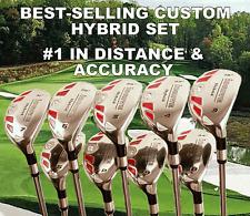 #1 BEST PGA TOUR TAYLOR FIT MADE SAME LENGTH OVERSIZE HYBRID #3-SW CUSTOM SET