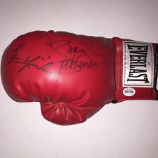 Erik Morales and Manny Pacquiao Autographed Everlast Boxing Glove Fight Plaza