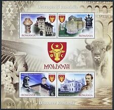 Rumänien Romania 2015 Schloß Kirche Burg Moldau Wappen Block 638 MNH Auflage 245