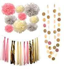 23pc Birthday Party Decoration Pink Cream Dot Gold Set Princess Baby Shower Girl