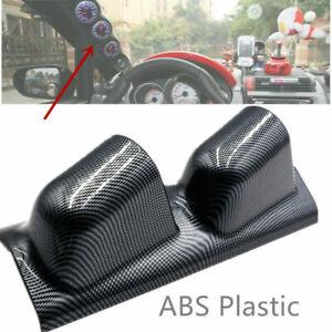 "2"" Dual Gauge Holder Carbon Fiber Look ABS SUV Car Meter Modification Assembly"