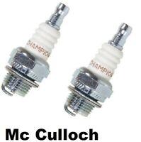 2 Spark Plugs For McCulloch 55 Pro Mac 700 555 10-10 Super Champion