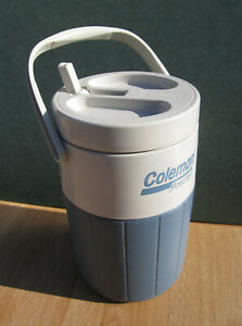 Vintage COLEMAN PolyLite 1 Blue & White 1-1/2 Gallon WATER Cooler JUG #5596 USA