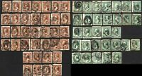 USA Variety of Cancellation SC #210 #213 Stamps Postage Collection USED