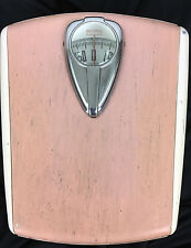 Vintage Borg Bathroom Scale Pink Retro Antique Art Deco Mid Century