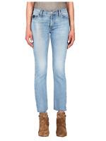 BLACK ORCHID Bardot Straight Fray Slit Skinny Jeans Love Hurts Blue 26 $207 #549