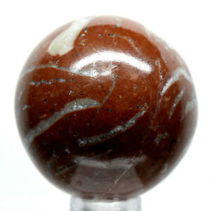 40mm Seam Agate Sphere Natural Fossil Crystal Polished Mineral Stone - Morocco
