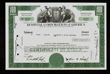 HCA : HOSPITAL CORPORATION OF AMERICA NASHVILLE TN  old stock certificate