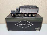 Peterbilt 357 East Dump Truck - Grey - Sword 1:50 Scale Model #SW2042-A New!