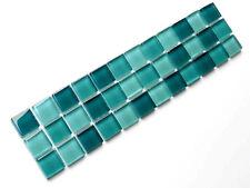 Bordüren  29,5x7,2 cm Mosaikbordüren Glasbordüren Bordüre SDA Dark Green türkis