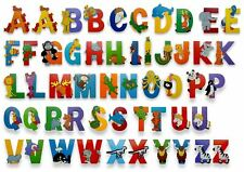 Vinsani Wooden Jungle Animal Upper Case Alphabet Letters Self Adhesive