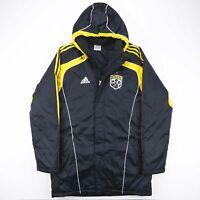 Vintage ADIDAS USA MLS Columbus Crew Black Puffer Jacket Men's Size Medium