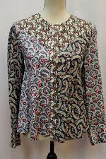 NWT Isabel Marant Etoile Loris Mixed Print Blouse Tunic Top 36 S $385